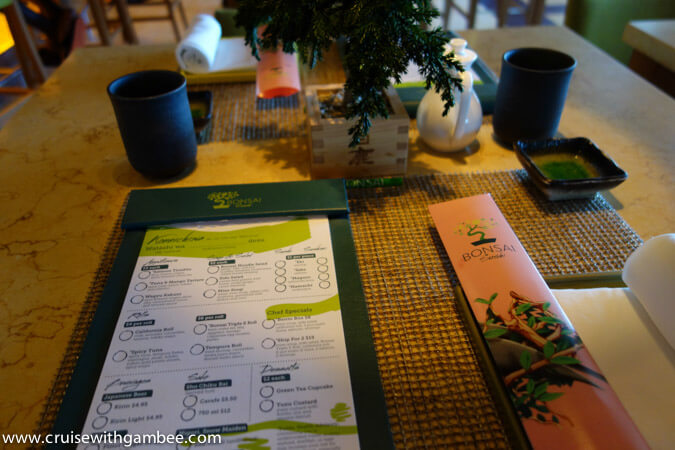 Carnival Breeze sushi review