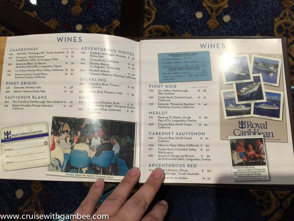 Quantum of the Seas Drink Lists-2