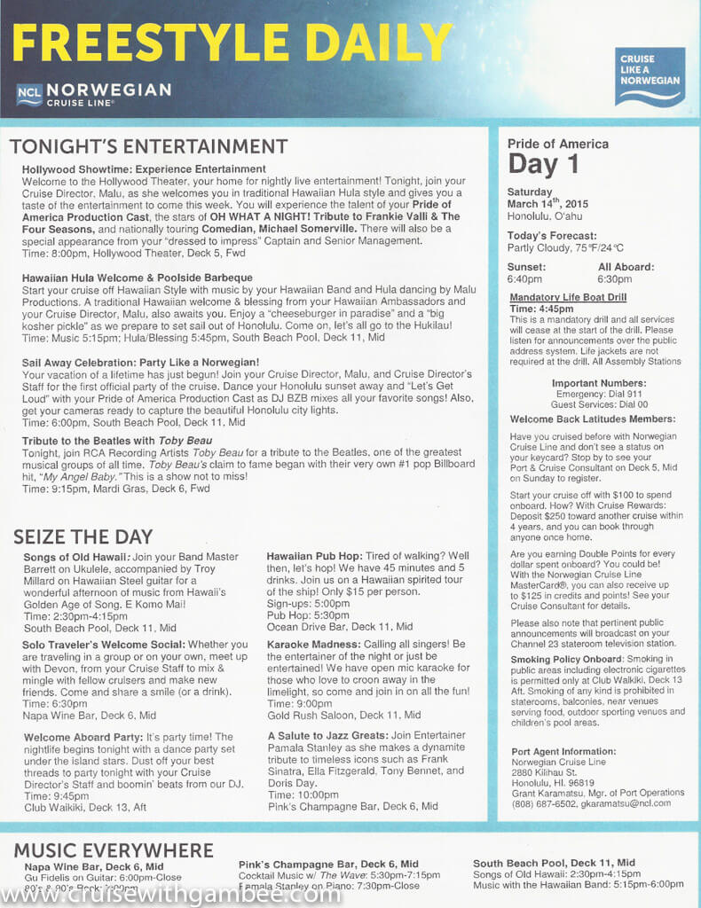 Pride of America freestyle daily documents-1