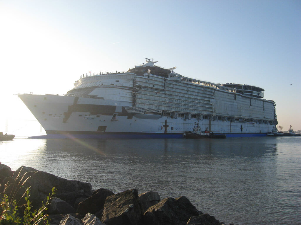 Harmony of the Seas Float Out-1