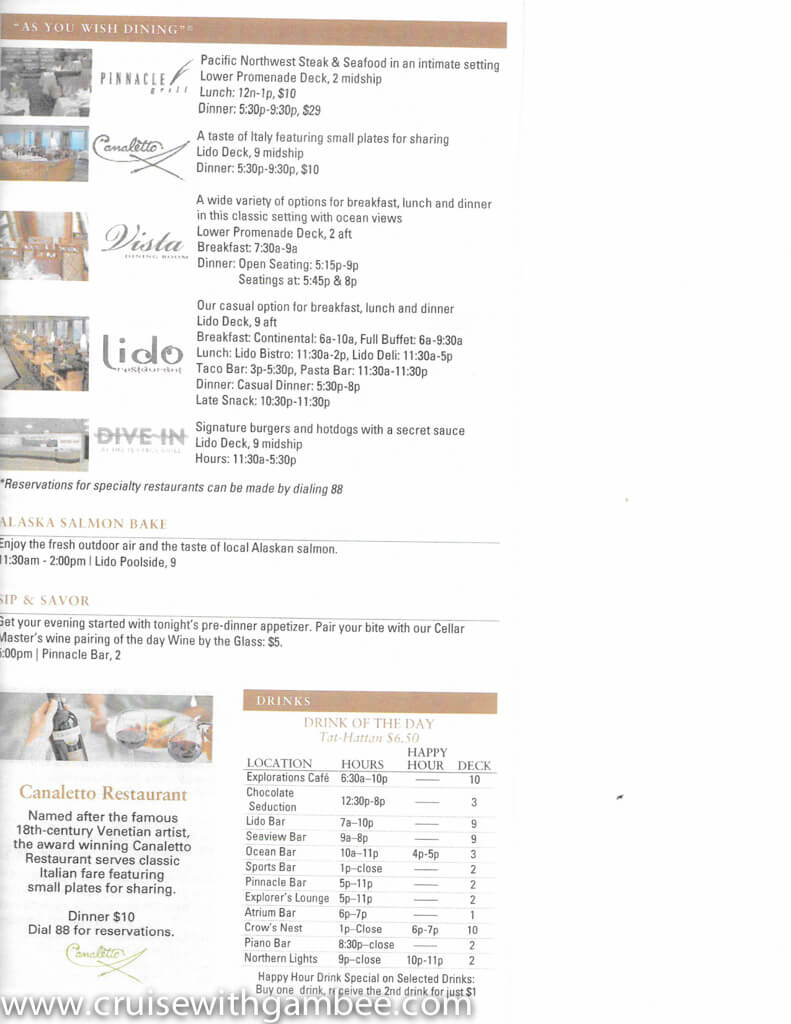 holland america on location daily papers-27