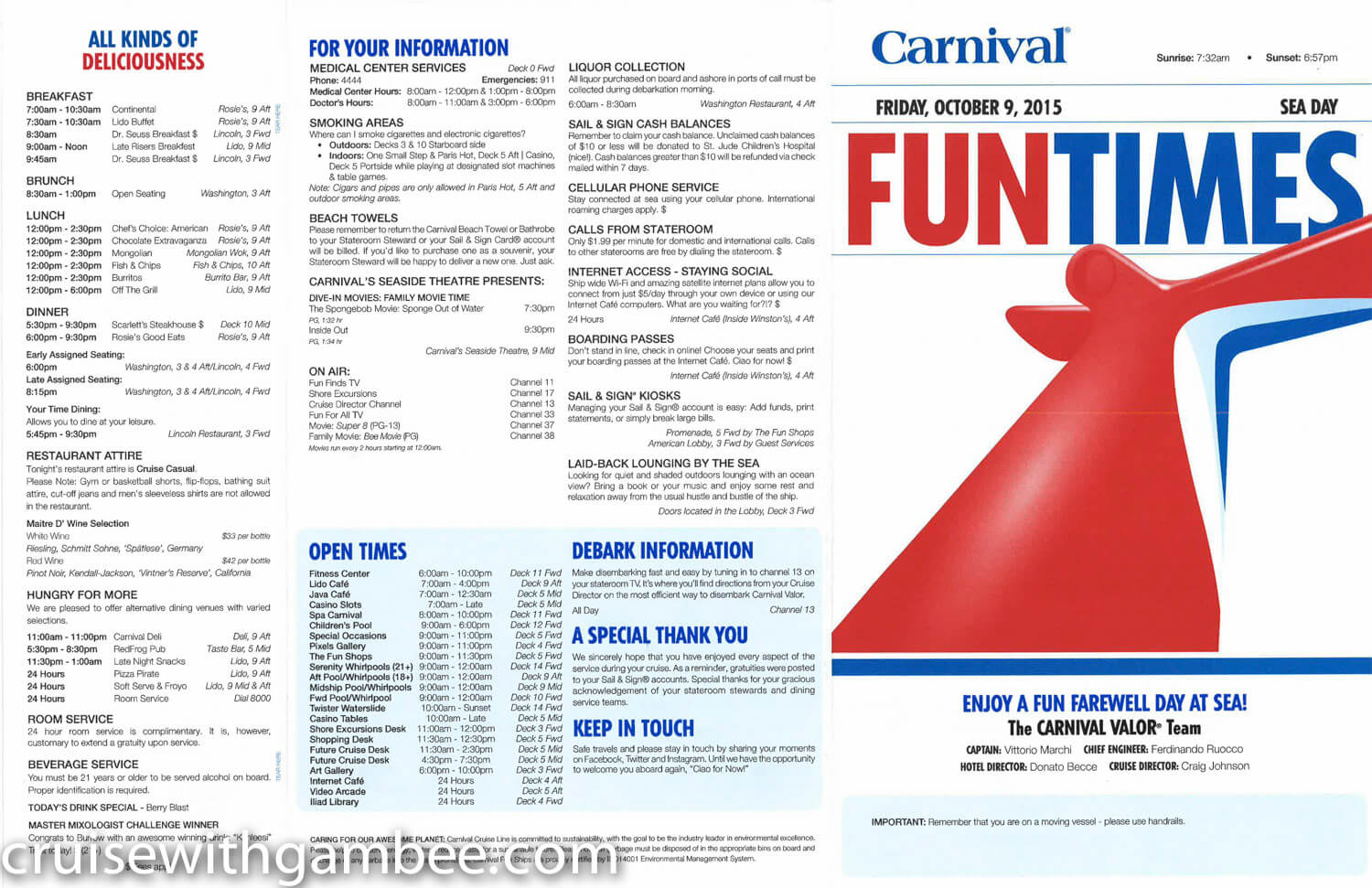 Carnival Valor Fun Times Daily paper-12