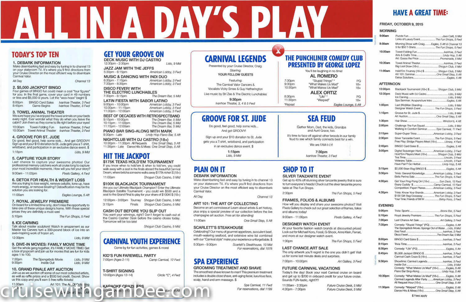 Carnival Valor Fun Times Daily paper-13