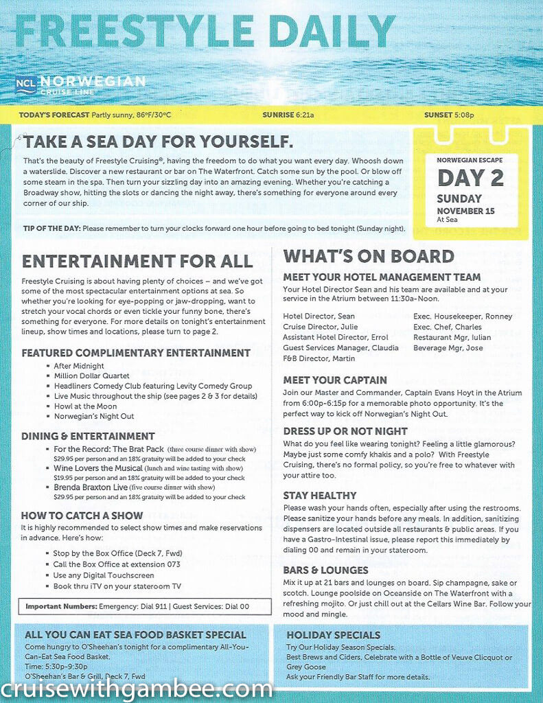Norwegian Escape Freestyle Daily Paper