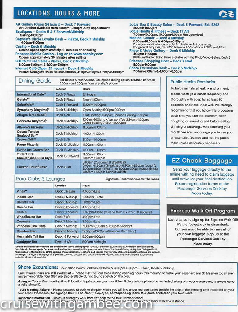 Regal Princess Patter Daily Guide-32