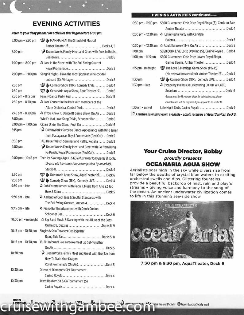 Royal Caribbean Allure of the Seas Compass Daily Paper-19