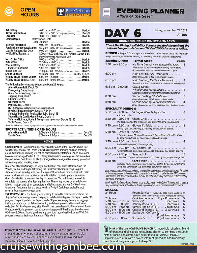 Royal Caribbean Allure of the Seas Compass Daily Paper-36