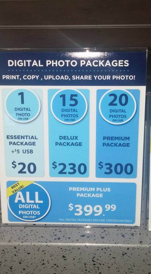 Royal Caribbean Digital Photo Packages Prices
